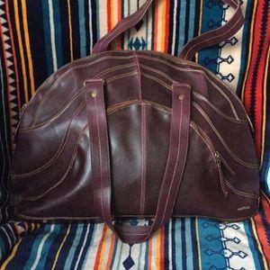 Matt & Nat big shoulder bag purple Eggplant color